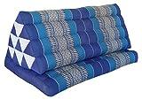 Wilai GmbH Cuscino Triangolo Thai XXL, esteso Un Cuscino Piatto, Pieghevole, Fabbricato in Thailandia, Blu (82216)