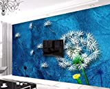 REAGONE Custom Wallpaper Home Decorative Fresco Dandelion Oil Painting Style Tv Sofa Background Wall Murals Photo 3D Wallpaper,350X245 Cm (137.8 By 96.5 In)