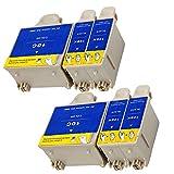 Ouguan® 6x (4 Noir + 2 Tri-colore) Kodak 10 10B 10C XL Cartouche d'encre Compatible pour Kodak ESP3 5 7 9 3250 5210 5250 7250 9250 Office 6150 EASYSHARE 5100 5300 5500 Hero 6.1 7.1 9.1
