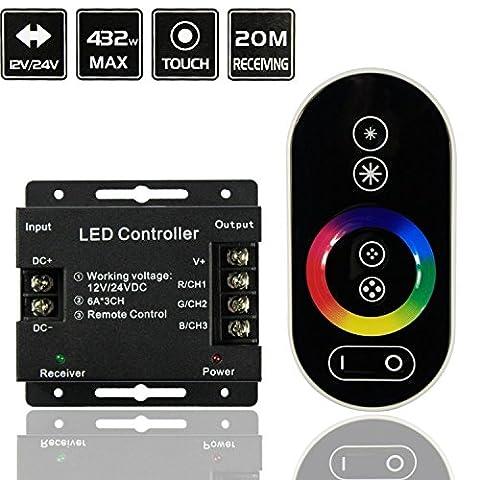 Mixed-Gadgets Wireless RF Kontorller Fernbedienung Touch Controller für RGB LED Lampe Streifen DC 12V-24V (RGB-1)