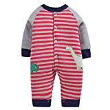 Morbuy Baby Overall Strampler Herbst und Winter Unisex Baby Strampler Spielanzug Footed Jumpsuit Karikatur Outfits (59cm, Dinosaurier)
