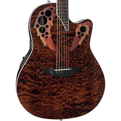Ovation Celebrity Elite Plus - Super Shallow - Tiger Eye CE48P-TGE