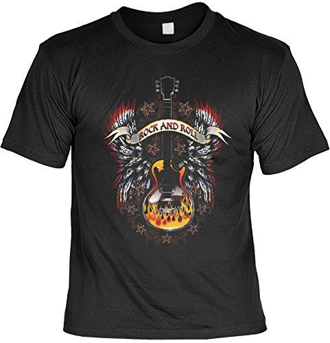 T-Shirt Rock and Roll USA Motiv Shirt Amerika Guitar Gitarrist Herren T-Shirt American Laiberl Leiberl Geschenk für Freunde