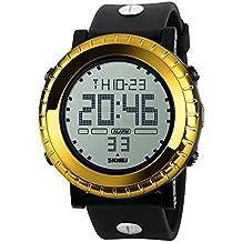 Bozlun Orologio digitale sportivo da uomo con ampio quadrante, impermeabile fino a 50m, con cronometro, sveglia e calendario retroilluminato