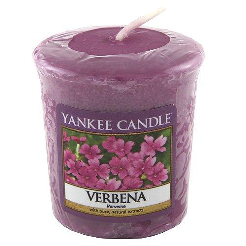 Yankee Candle 1507755E - 49 g Verbena Vela Votiva, cera, Color violeta, 4.5x4.5x5 cm