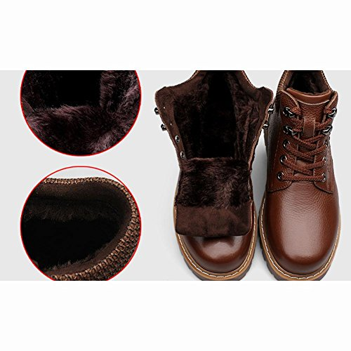 AIURBAG Da uomo Stivaletti Comoda PU (Poliuretano) Autunno Inverno Casual Comoda Lacci Piatto Nero Marrone scuro Piatto dark brown