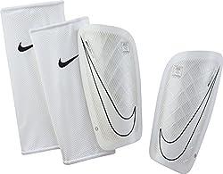 Nike Herren Mercurial Lite Schienbeinschoner, weiß-schwarz, L