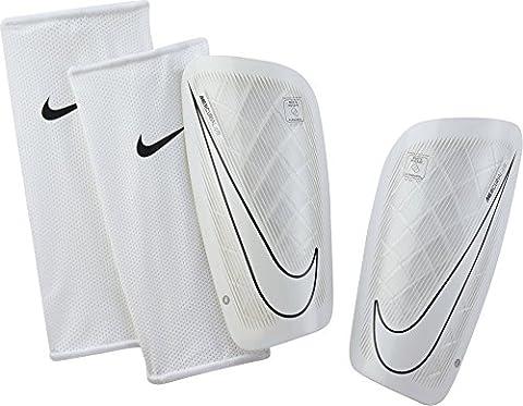 Nike Mercurial Lite Protège-Tibias de Football Homme, Blanc/Noir/Blanc, Medium
