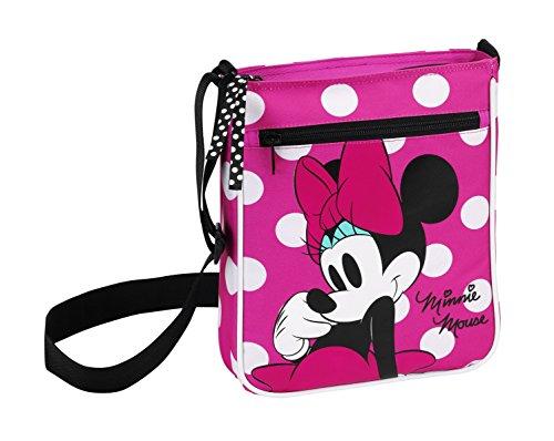 Minnie Mouse - Borsa a tracolla, 21 x 25 x 5 cm (Safta 611 513 431)
