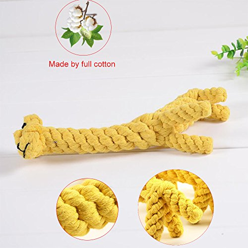 PETBABY-Puppy-Boredom-Rope-Toy-Cotton-Natural-Teeth-Cleaning-Chew-Small-Dog-Toy-Giraffe