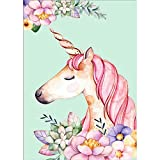 DIY 5D Diamond Painting, Crystal Rhinestone Diamond Embroidery Paintings Pictures Arts Craft for Home Wall Decor Pink Unicorn 11.8 * 15.7 inch
