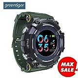 WCPZJS Farbdisplay MX16 Sport Smart Watch IP68 Wasserdichte Herzfrequenzüberwachung Fitness Smartwatch Männer Frauen Android IOS