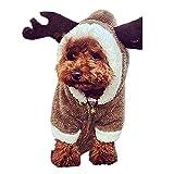 Nibesser Weihnachten Niedlich Hundebekleidung Super weich Kostüm Hundemantel Jacke Pet Supplies Kleidung Hunde Katzen Warme Mode Pullover Mit Kapuze(Hirsch Hase Schaf)