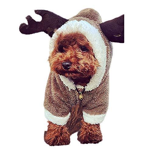 (Nibesser Weihnachten Niedlich Hundebekleidung Super weich Kostüm Hundemantel Jacke Pet Supplies Kleidung Hunde Katzen Warme Mode Pullover Mit Kapuze(Hirsch Hase Schaf))