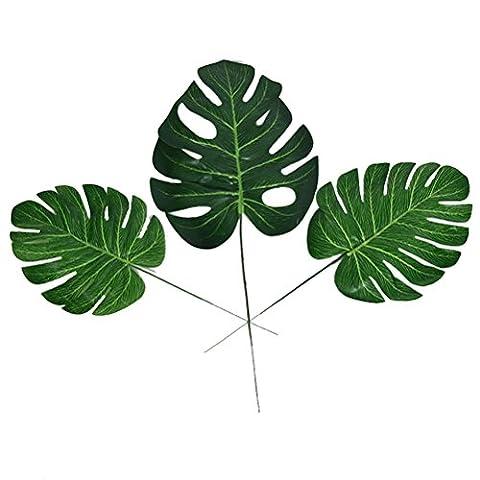 WINOMO 10stk Simulation Künstliche Monstera Tropische Pflanze Blatt Home Party Büro Shop Dekorationen - Größe M