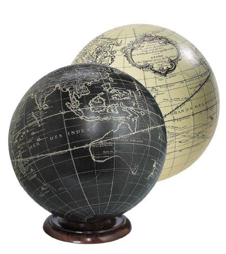 Vaugondy Globus, schwarz - 18 cm -