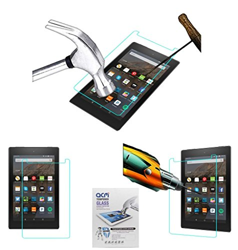 Acm Tempered Glass Screenguard Compatible with Amazon Fire Hd 8 Screen Guard Scratch Protector
