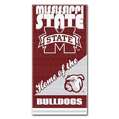 NCAA Mississippi State Bulldogs Home Beach Towel, 30 x 60-Inch