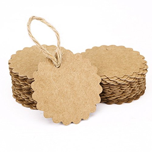 weimay Kraft Paper Gift Tags Label Paper Small Card Blank Word of Humour Card of Hand Soap Label 100pcs