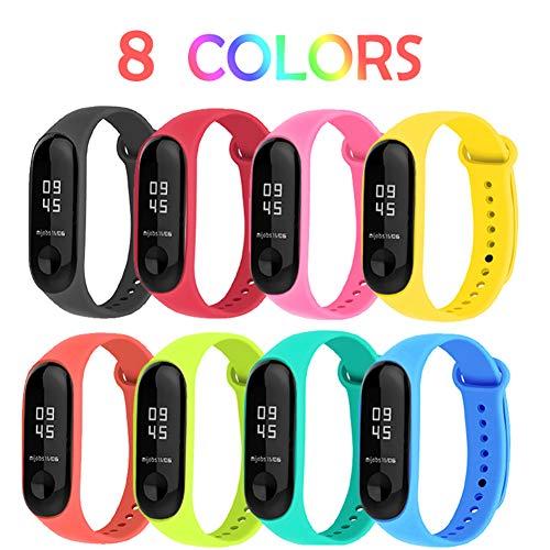 BRone Pulsera para Xiaomi Mi Band 3, Coloridos Impermeable Reemplazo Correas Reloj...