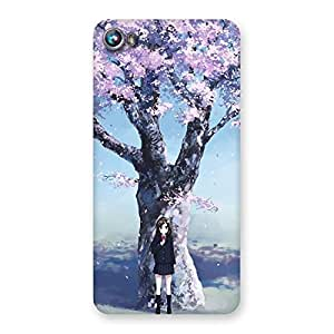 Gorgeous Premier Cherry Blossom Multicolor Back Case Cover for Micromax Canvas Fire 4 A107