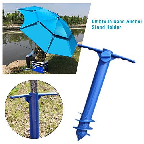 Class-Z Sonnenschirmhalter/Schirm Halter/Erdspieß zum Eindrehen/Wäschespinne, Sonnenschirmständer zum Eindrehen für Sonnenschirm Stockmaß