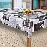 laro Wachstuch-Tischdecke Wachstischdecke Tischwäsche Abwaschbar Meterware Wachstuchdecke |19|, Größe:100x160 cm