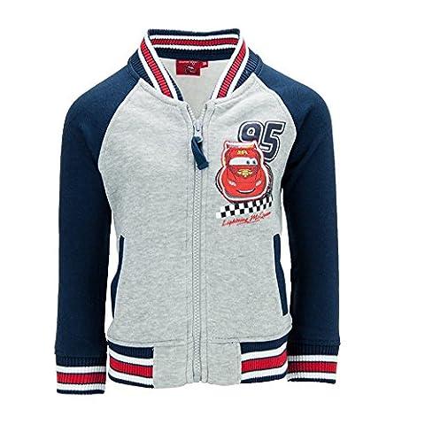 Dress-O-Mat Jungen Sweatjacke Pullover Jacke Collegejacke Cars Gr 128 8 J blau grau (Jacke Cars)