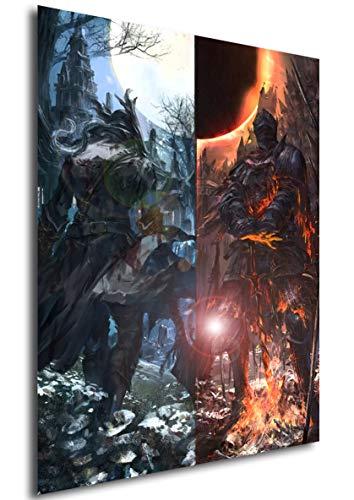 Instabuy Poster Bloodborne & Dark Souls - Artwork (Plakat 70x50)