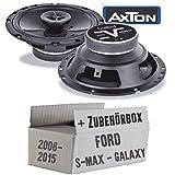 Ford S-Max / Galaxy Front oder Heck - Lautsprecher Boxen Axton AE652F | 16cm 2-Wege 160mm Koax Auto Einbauzubehör - Einbauset