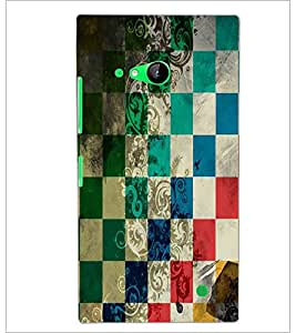 PrintDhaba Pattern D-5526 Back Case Cover for NOKIA LUMIA 730 (Multi-Coloured)