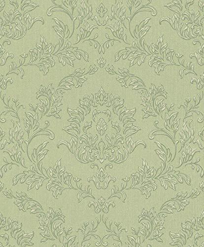 Rasch Textil Vlies-Tapete Kollektion Velluto 074900 Grün, Oliv, Mint