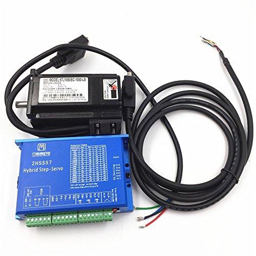 2ph 2,2Nm NEMA23geschlossen Loop Stepper Motor Drive Controller CNC Kit 5A Encoder Geschlossene Motor