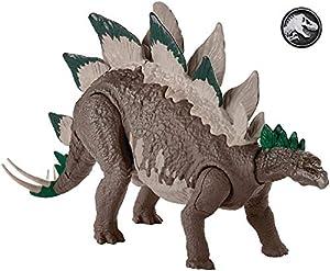 Jurassic World Stegosaurus, Figura Dinosaurio de Juguete niños +4 años, Multicolor (Mattel GDL06)