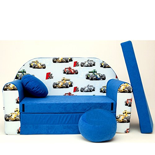 Tarde Enfants Enfants Bébés Mini Canapé Canapé lit Pouf Lot de 3 en 1 d'oreillers en Mousse