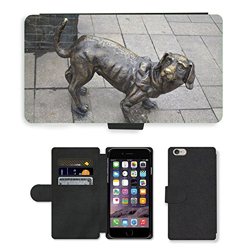 Just Cover Hot Stil Handy Karte Slot Hülle/Case/Brieftasche aus PU-Leder/m00140059Dog Pet Statue Animal Eisen Art//Apple iPhone 6Plus 14cm