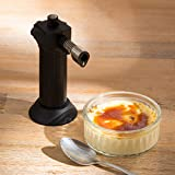Levivo Kitchen Torch - Chef's Blow Torch for Crème Brûlée - Refillable Torch or Cook's Torch for the Creative Chef - Culinary Blowtorch for Cooking and Baking - Crème Brûlée Torch, Black
