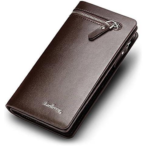 Ulisc Men Clutch Wallets Double Zipper Male Purse Long Wallet Man's Clutch