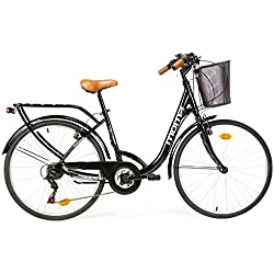"Moma Bikes Bicicleta Paseo Urbana Citybike SHIMANO 18 vel. Aluminio, ruedas de 26"""