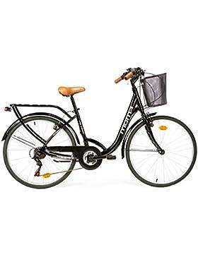 Moma bikes, Bicicletta Passeggio Citybike SHIMANO. Alluminio, 18 velocità, ruota da 26