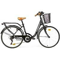 """Moma bikes, Bicicletta Passeggio Citybike SHIMANO. Alluminio, 18 velocità, ruota da 26"""""""