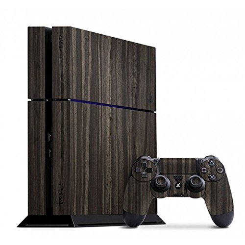 slickwraps-gold-flake-ebony-wood-playstation-4-by-slickwraps