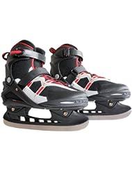 Ultrasport 331300000053 - Patines sobre hielo, color negro / rojo, talla 38-39