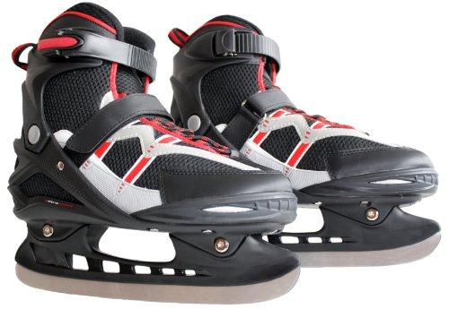 Ultrasport Schlittschuhe Pro-Skater, schwarz/rot, 39-40