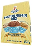 Frankys Bakery Protein Muffin Mix Backmischung Proteinreich Fettarm 38% Protein Eiweiß Post-Workout 500g (Apple Walnut - Apfel Walnuss)