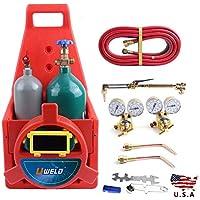 Kit de herramientas de soldador portátil profesional con tanque de oxígeno de acetileno