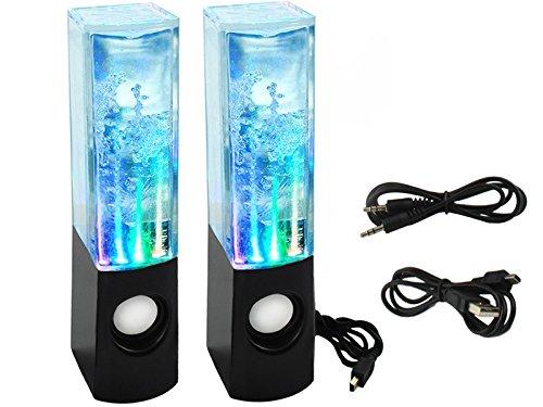Iso Trade Lautsprecher Aqua Dancer LED Wassersäule Springbrunnen USB Musik Box 3,5mm 3060 - Aqua Usb