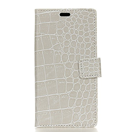 FindaGift Tasche für Huawei Y7 2019 Leder Hülle, Flip Lederhülle Schutzhülle Handyhülle [Kartenfächern][Magnetverschluss] Stand Ständer Etui Karten Slot Schutzhülle Wallet Case (White)