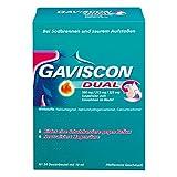GAVISCON Dual 500 mg / 213 mg / 325 mg Suspension - Bei Sodbrennen und Magendruck - Wirkt bis zu 4 Stunden - 24 x 10 ml Dosierbeutel