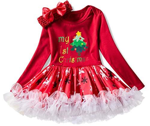 LCXYYY Baby Mädchen Kleider Weihnachten Outfits Baby Mädchen Kleinkind Prinzessin Kleid Weihnachten Sankt Kostüm Partei Kleid Weihnachtskostüm Christmas